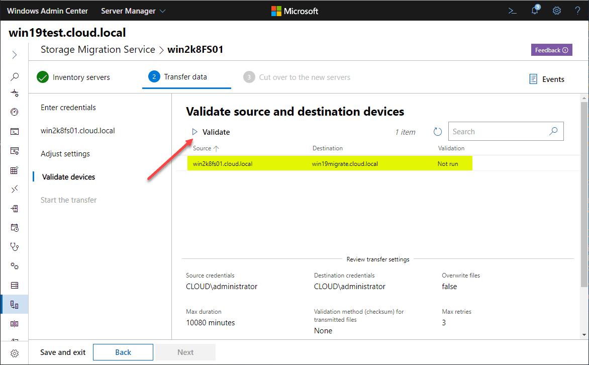 Validate-source-and-destination-servers-in-Storage-Migration-Service