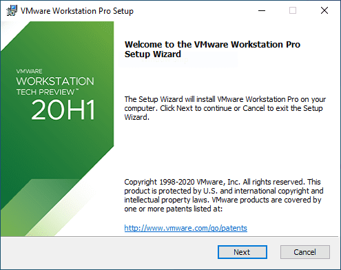 Beginning-the-VMware-Workstation-20H1-Tech-Preview-installation