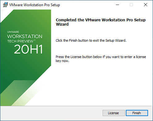 Installation-of-VMware-Workstation-20H1-Tech-Preview-finishes-successfully