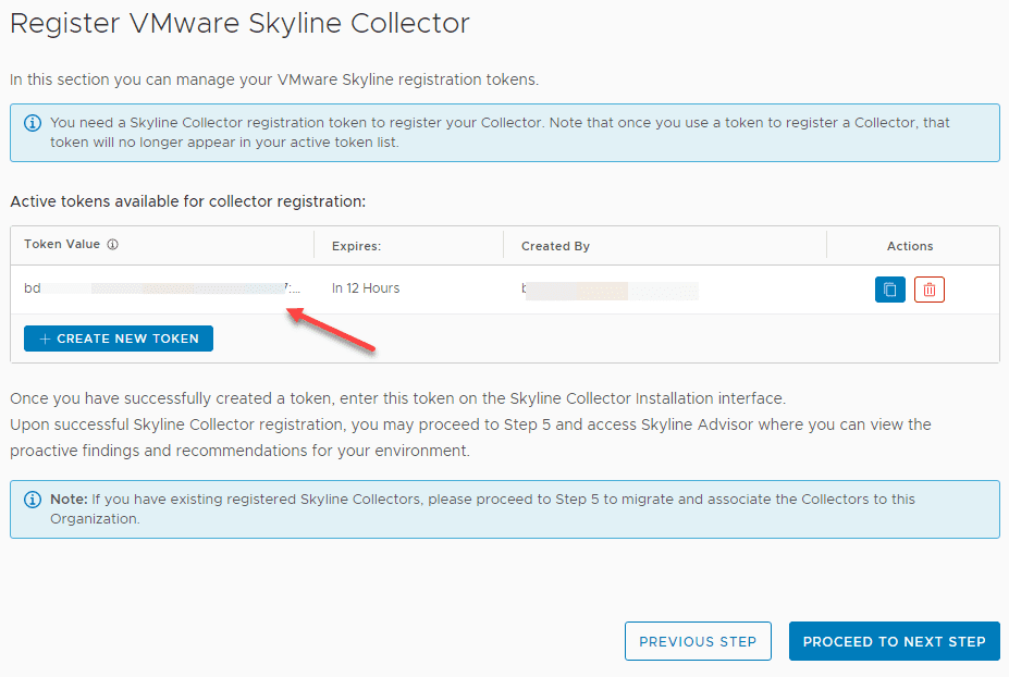 New-security-token-is-displayed-in-the-VMware-Skyline-cloud-interface-so-you-can-copy-it