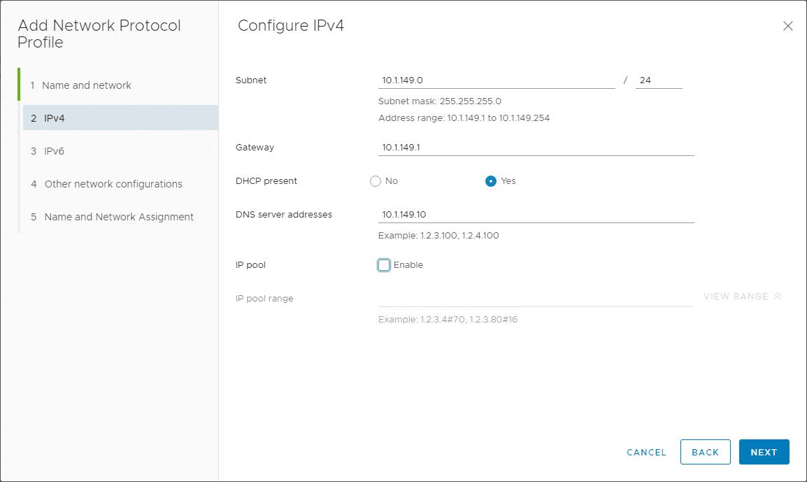 Setting-up-IPv4-protocol-profile-configuration-settings