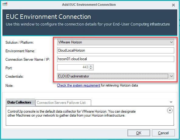 Configure-your-VMware-Horizon-EUC-connection-information-in-ControlUp-8.1
