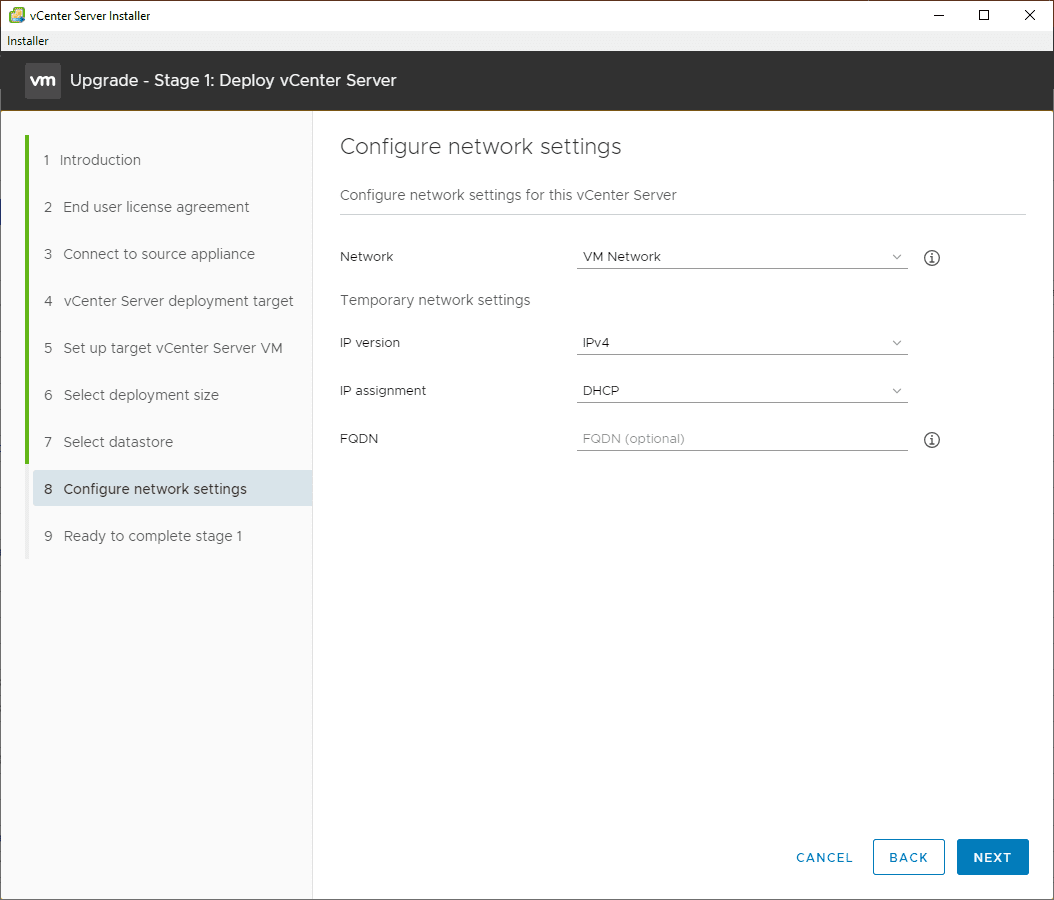 Configure-your-network-settings-for-the-resulting-VCSA-7-appliance-1