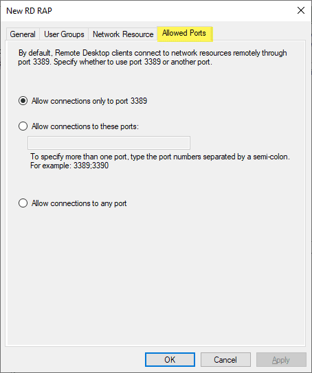Allowed-ports-for-connection