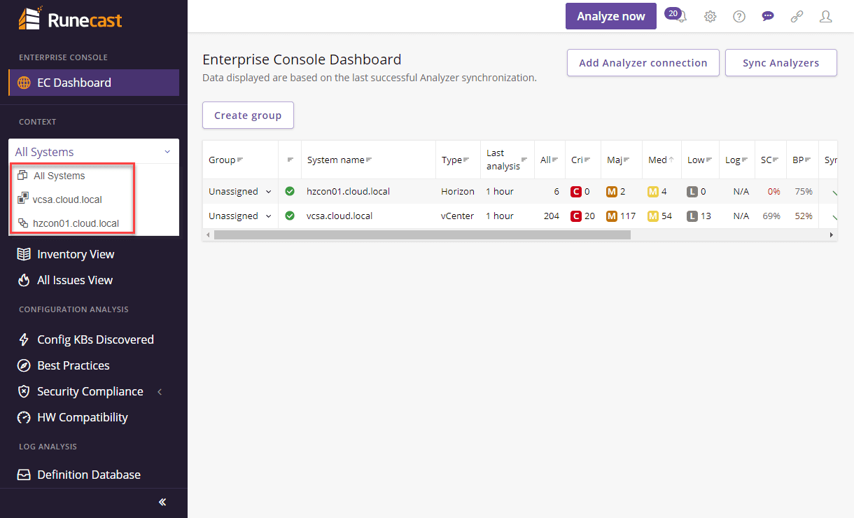Changing-the-context-of-the-EC-dashboard-view