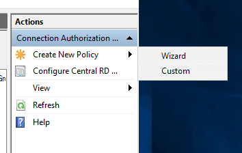 Create-a-new-connection-authorization-policy-with-Wizard-or-Custom