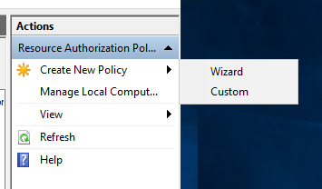 Create-a-new-policy-with-the-wizard-or-custom