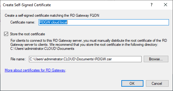Create-a-self-signed-certificate-and-export-the-certificate