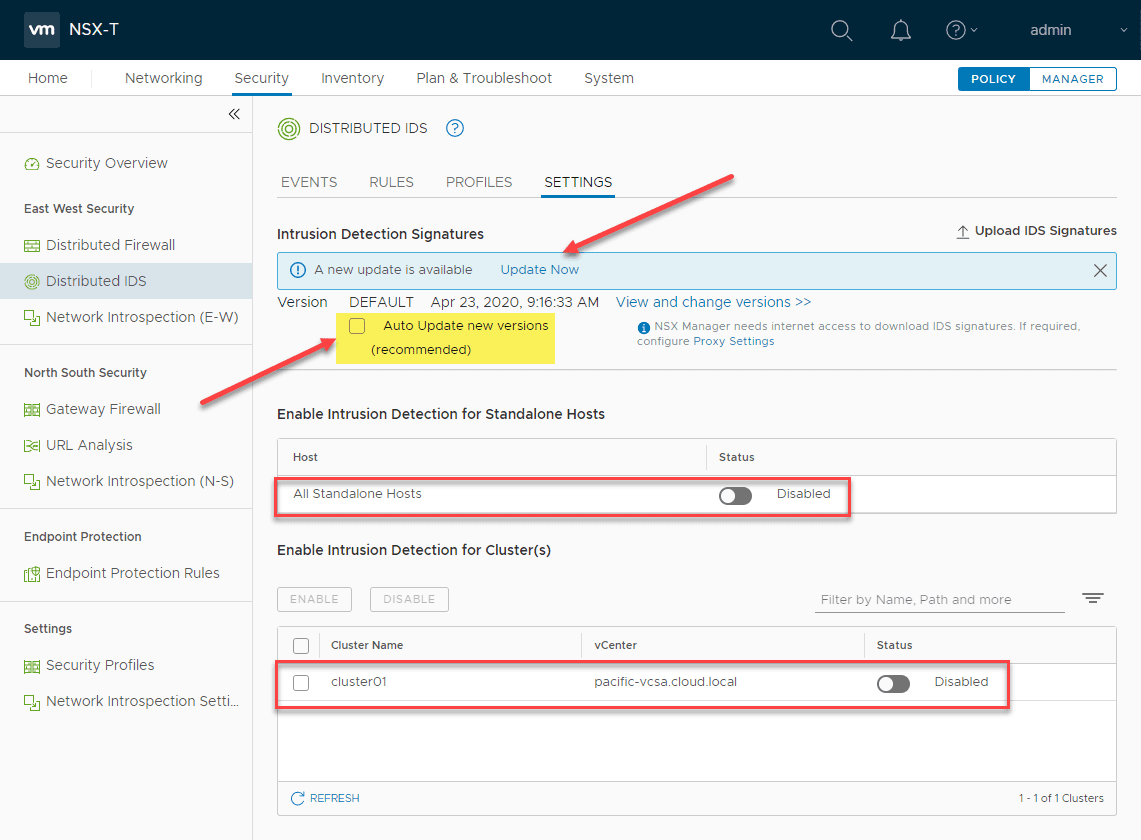 Updating-the-NSX-T-3.0-distributed-IDS-signatures