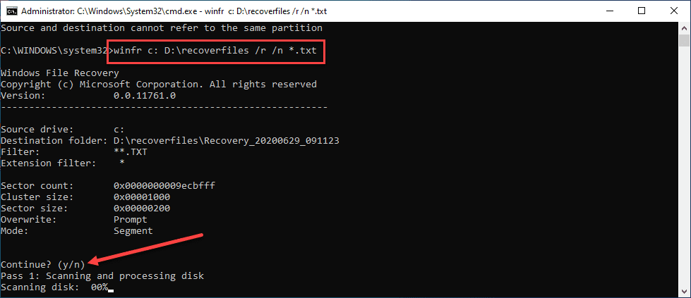 Beginning-the-recovery-of-files-using-Windows-File-Recovery-app