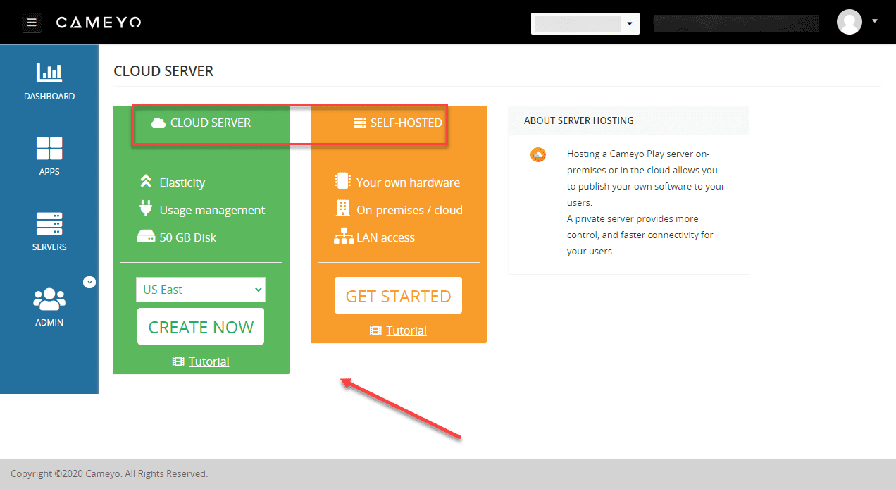 Choose-to-setup-a-Cameyo-cloud-instance-or-a-self-hosted-installation