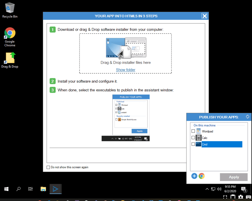 Installing-software-via-the-admin-interface-of-your-Cameyo-server
