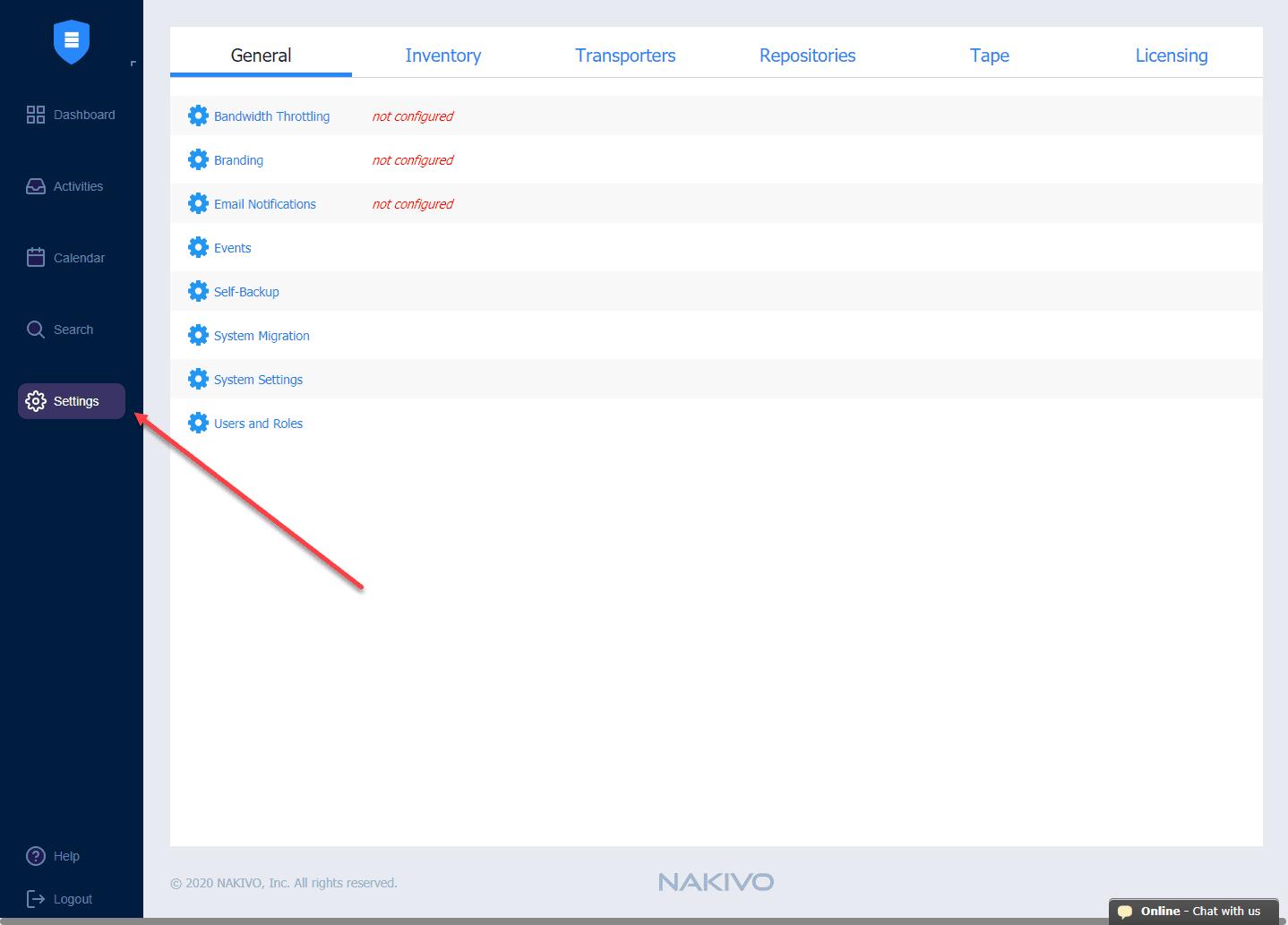 New-NAKIVO-Backup-and-Replication-v10-interface