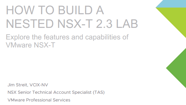 VMware-how-to-build-a-nested-NSX-T-2.3-lab-guide