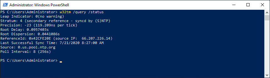 Querying-the-NTP-synchronization-status-of-your-Windows-Server-2016-or-2019-domain-controller