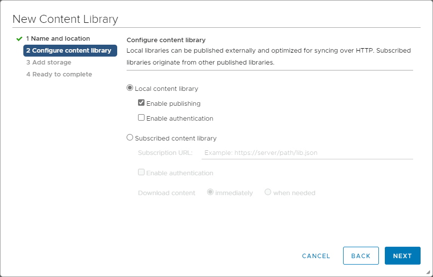 Configure-the-content-library-publishing-and-subscriber-settings