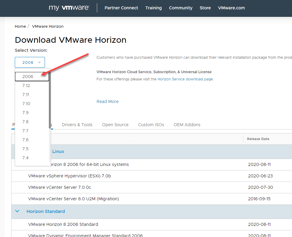Downloading-the-new-VMware-Horizon-8-Connection-Server