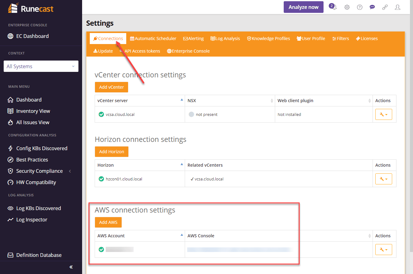 Add-your-Amazon-AWS-connection-to-your-Runecast-Analyzer-appliance