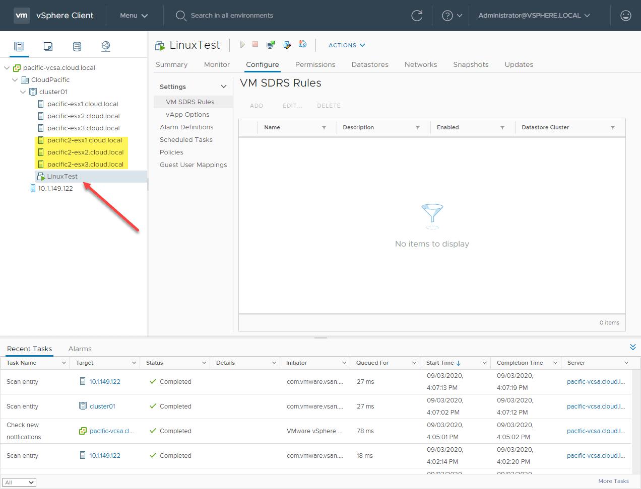 Linux-test-VM-deployed-on-a-vSAN-7-stretched-cluster