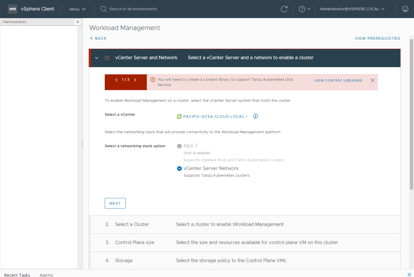 Choose-the-vCenter-Server-and-network