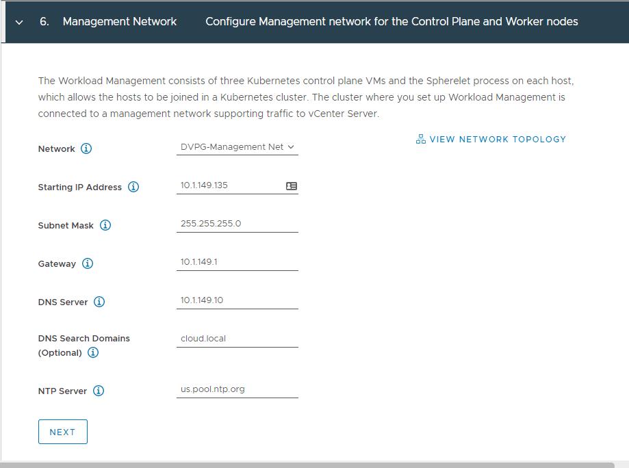 Configure-the-management-network