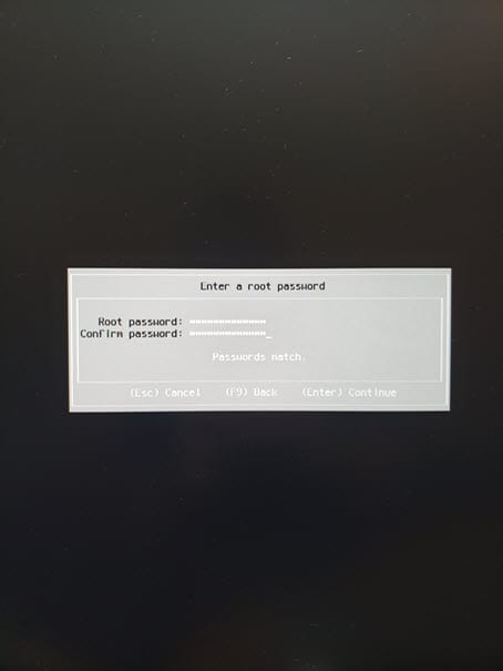 Entering-the-root-password