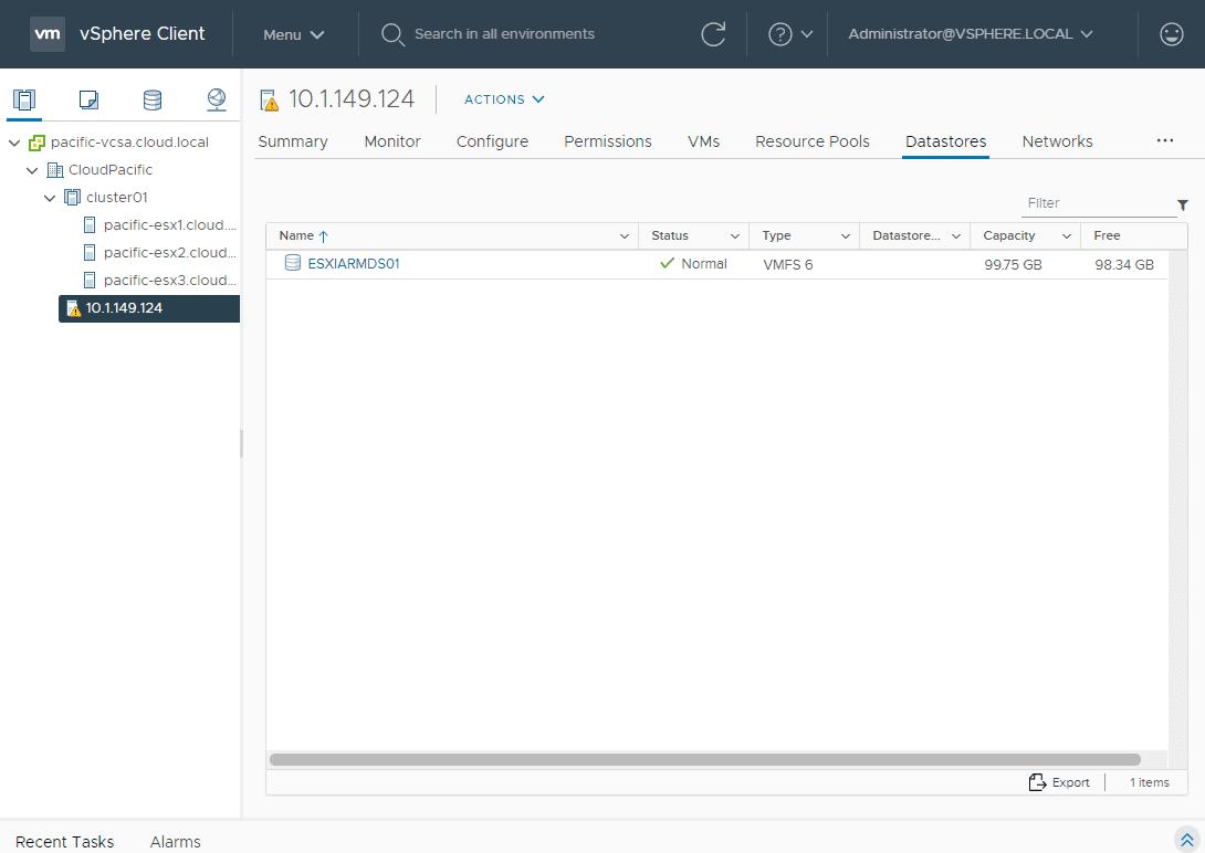 New-iSCSI-datastore-added-to-ESXi-Arm-server