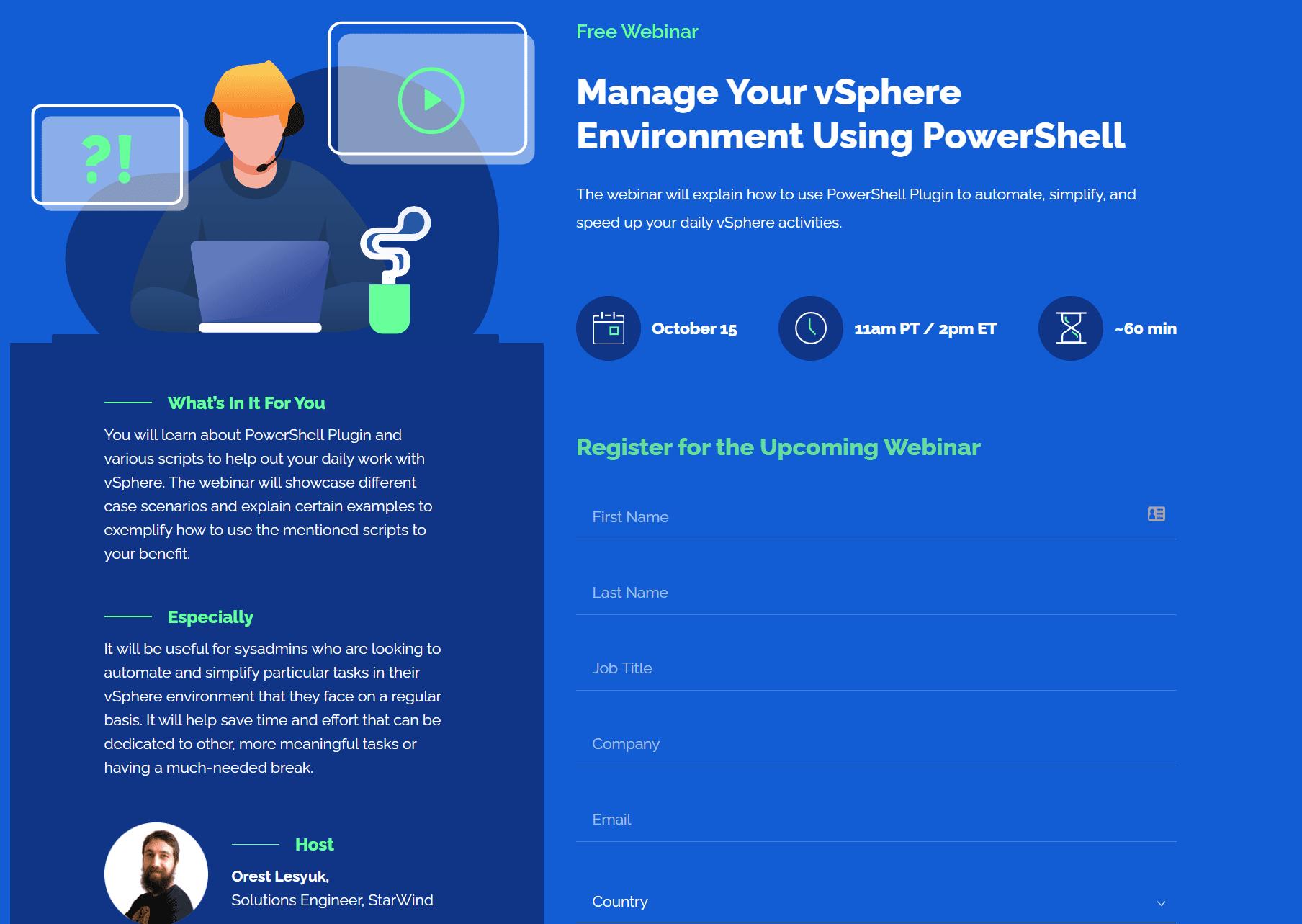 StarWind-Manage-VMware-with-PowerShell-webinar