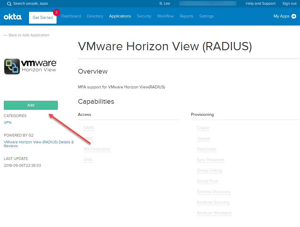 Add-the-VMware-Horizon-View-RADIUS-application