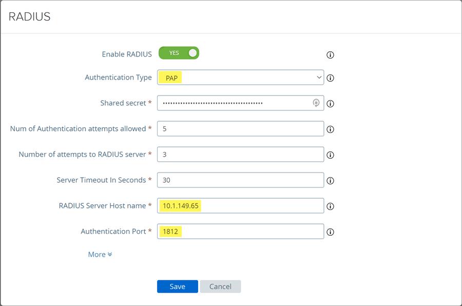 Configure-authentication-type-RADIUS-port-and-shared-secret