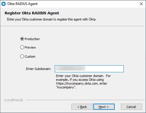 Enter-your-customer-domain-to-register-the-OKTA-RADIUS-Agent