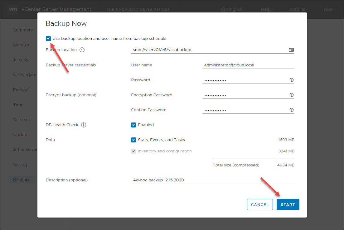 Performing-an-ad-hoc-backup-using-vCenter-Server-Backup-1