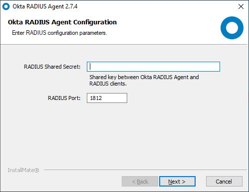 Setting-the-shared-secret-and-RADIUS-port-for-the-OKTA-RADIUS-Agent