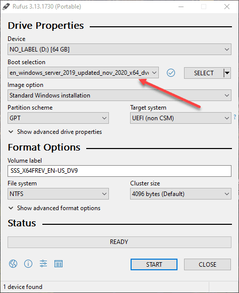 Using-Rufus-to-create-a-USB-drive-for-Windows-Server-2019-installation