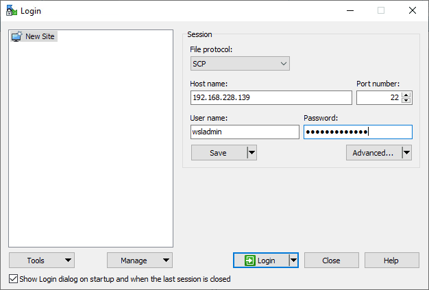 Connect-via-WinSCP-to-the-WSL-installation