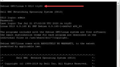Dell emc os10 network operating system based on linux