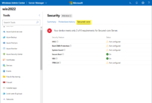 Viewing secured core recommendations in windows admin center preview 2012