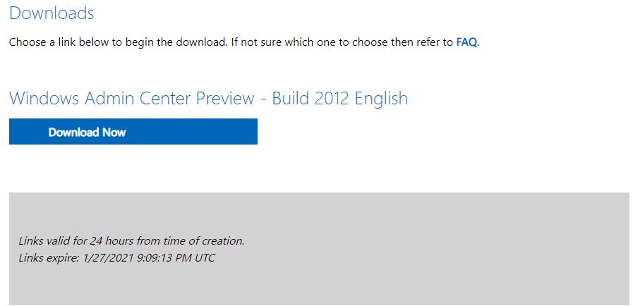 Windows admin center preview 2012 download