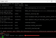 Installing the os10 image update to the dell switch