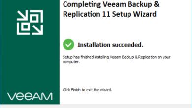 Veeam v11 installation finishes successfully