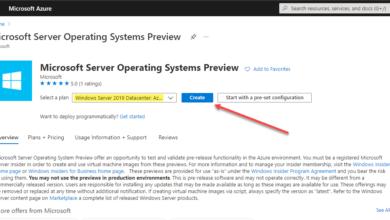 Choosing to create a new windows server 2019 datacenter azure edition vm
