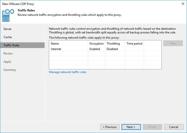 Configure traffic rules as needed