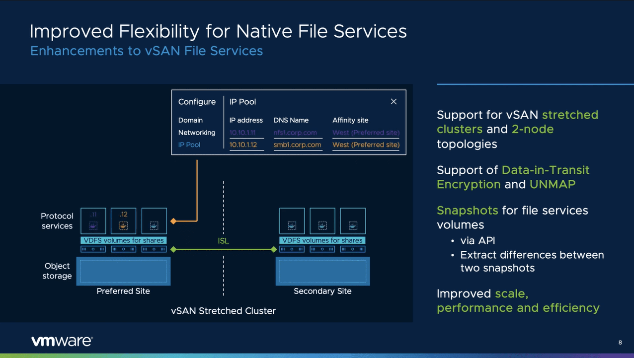 Improved native file services