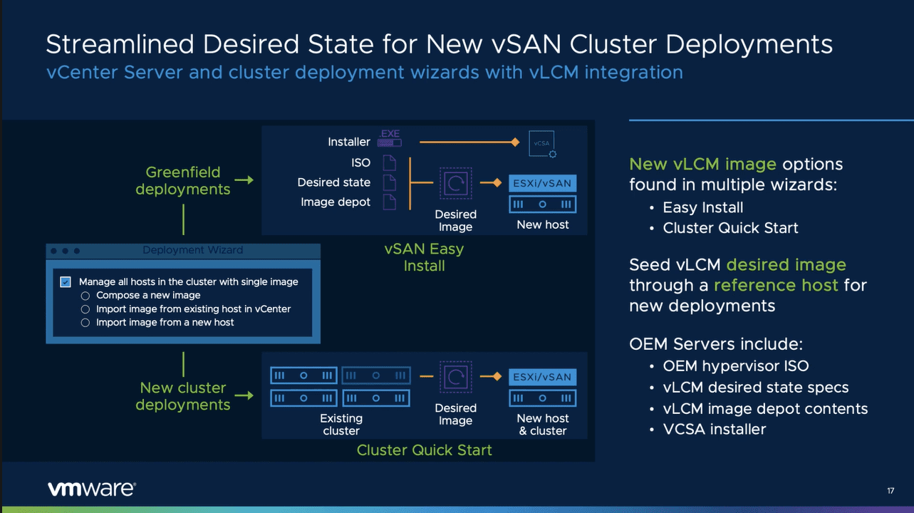 New improvements in initial vsan 7.0 update 2 deployments