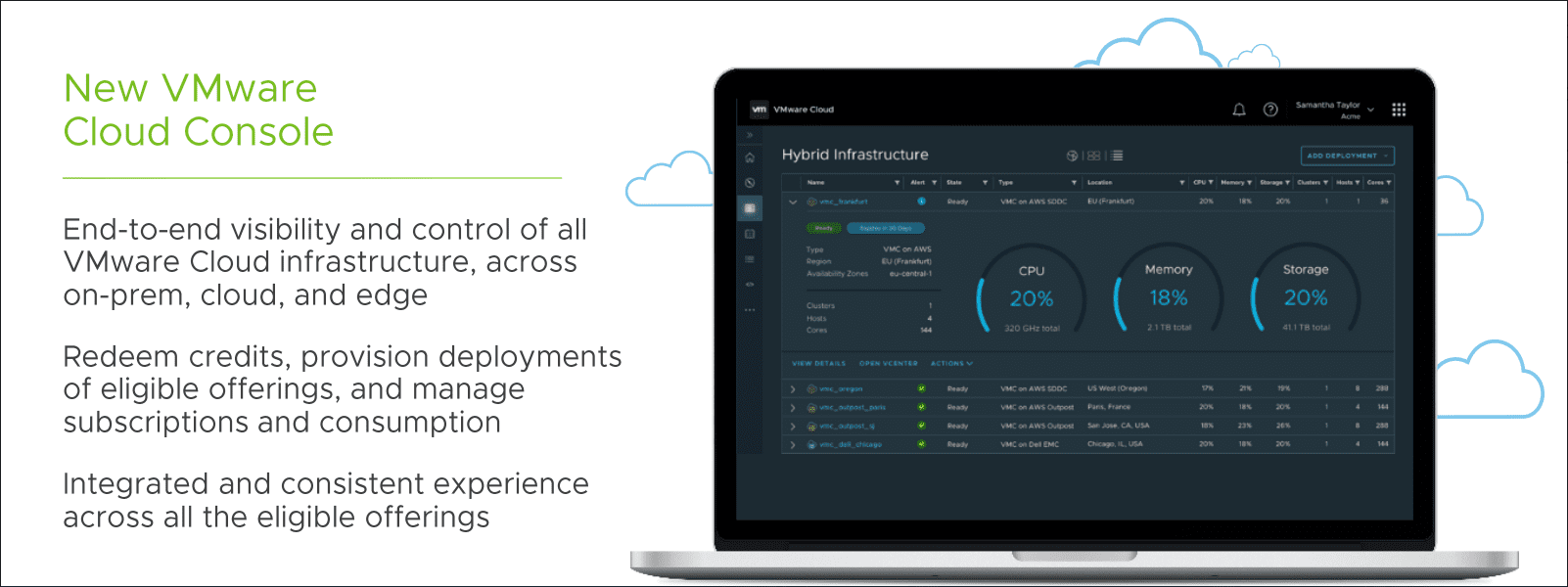 New vmware cloud console offering