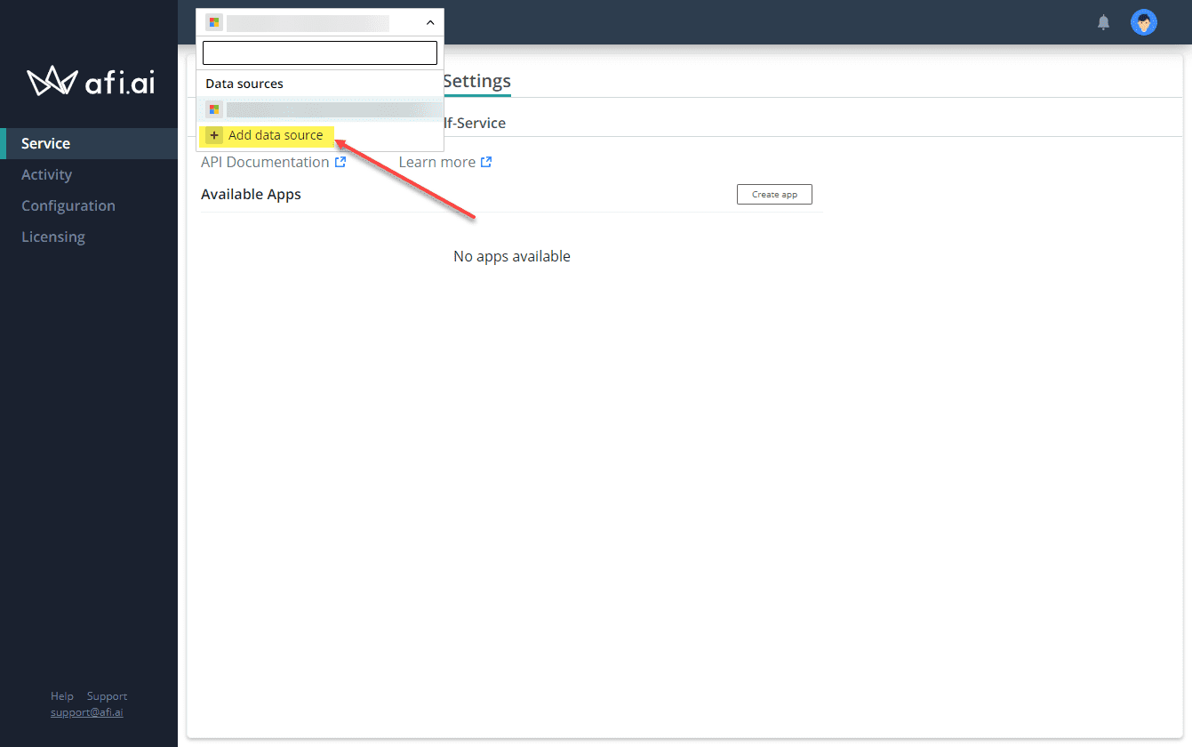 Adding additional data sources in afi