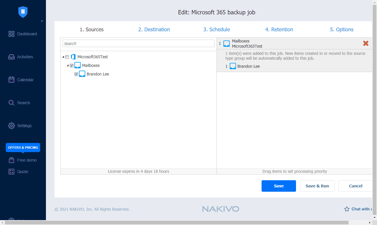 Microsoft office 365 exchange online backup and restore with nakivo backup and replication