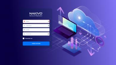 New nakivo backup and replication v10.3 beta login screen