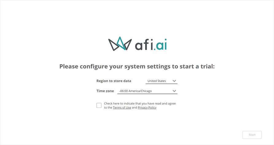 Setting the timezone for afi configuration