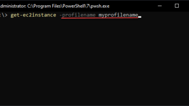 Using a named profile with aws powershell